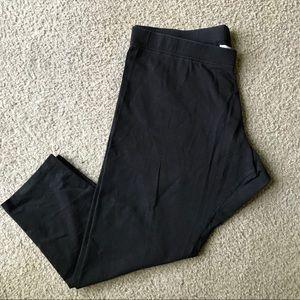 Soft surroundings leggings Sz 1X Black cropped